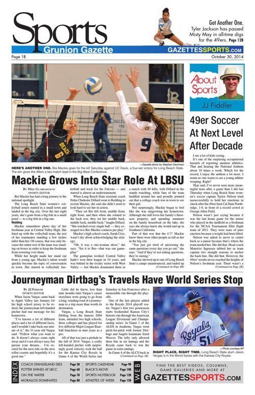 Gazette Sports | October 30, 2014