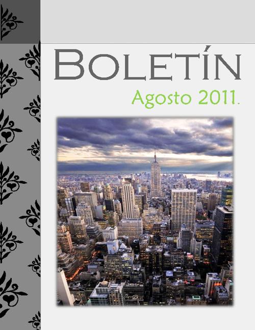 Boletin Agosto 2011