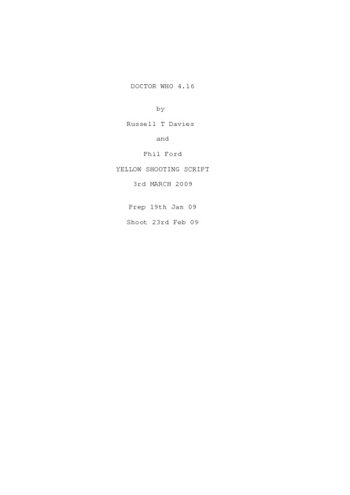 Doctor Who Script - Waters Of Mars