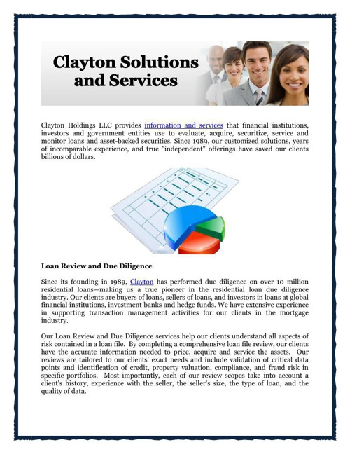Clayton Solutions and Services