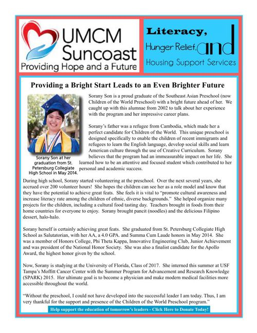 UMCM Suncoast Newsletter - September 2015