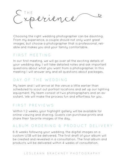 Brackney Photography Wedding Guide