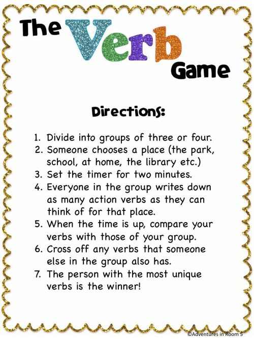 The Verb Game