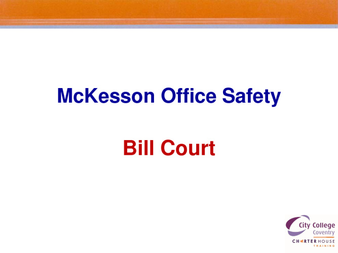 McKesson Office Safety