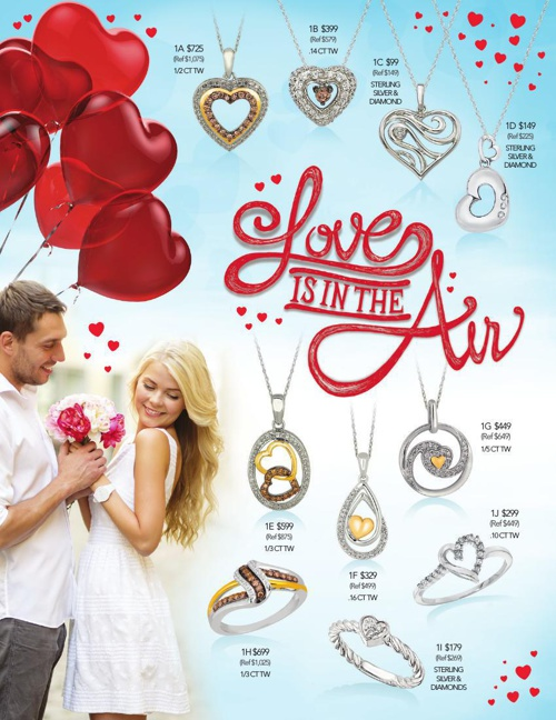 Love is in the Air- Diamond Collection Valentine's Flyer