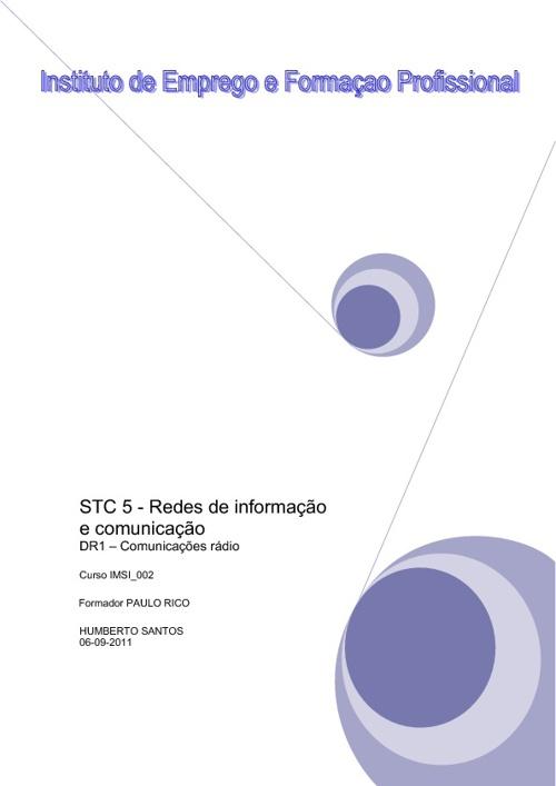 STC 5 - DR1 - Redes de informação e comunicação