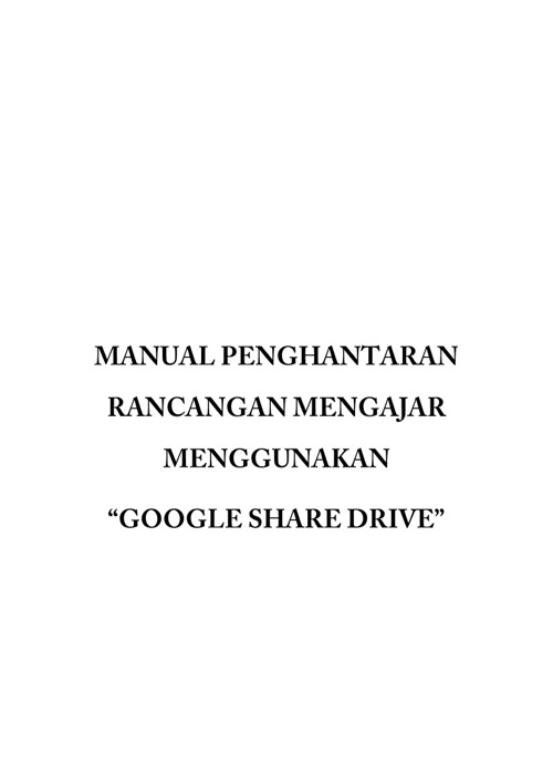 MANUAL GOOGLE SHARE DRIVE