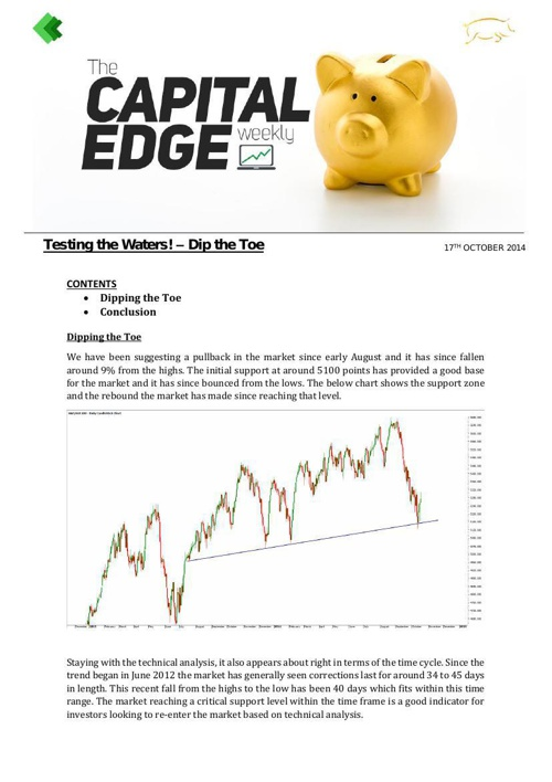 CAP EDGE WEEKLY 17th october