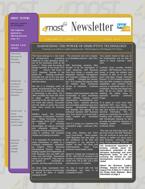4most Newsletter July 2015