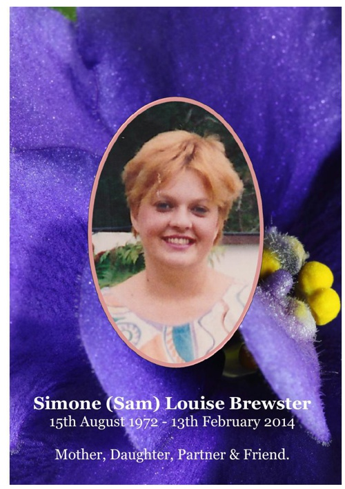 4 Order of Service for Simone (Sam) Louise Brewster