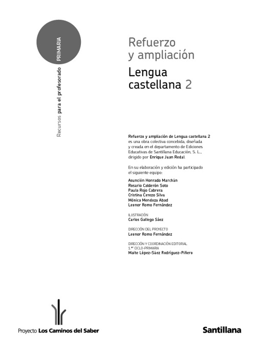 Refuerzo y Ampliacion Lengua Castellana 2º