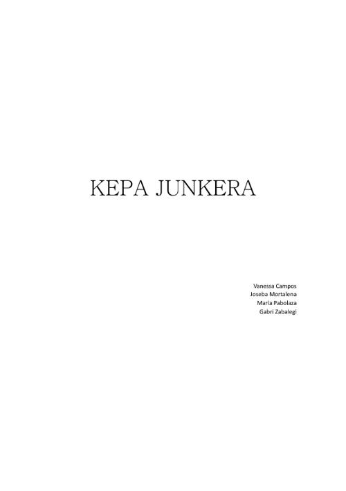 KEPA JUNKERA N.Villosladako ikasle talde batek egina