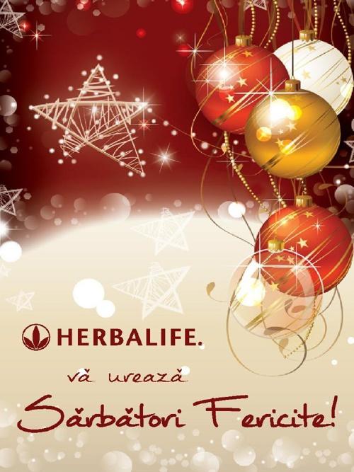 Sarbatori Fericite pline de Cadouri Exclusiviste Herbalife !