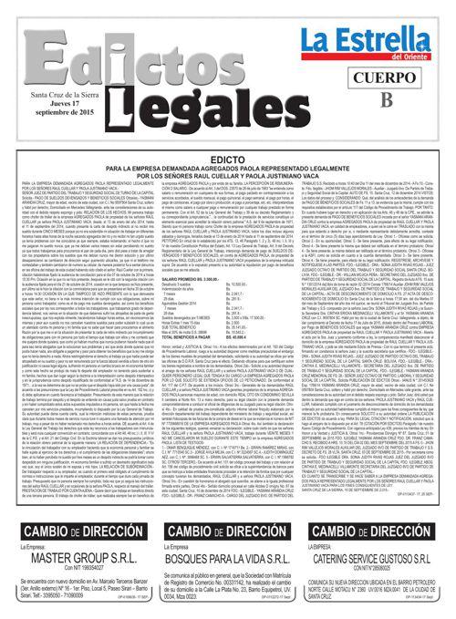 Judiciales 17 jueves - septiembre 2015