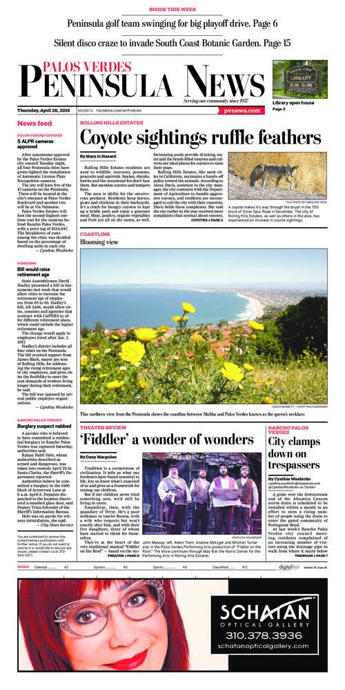 Peninsula News   April 28, 2016