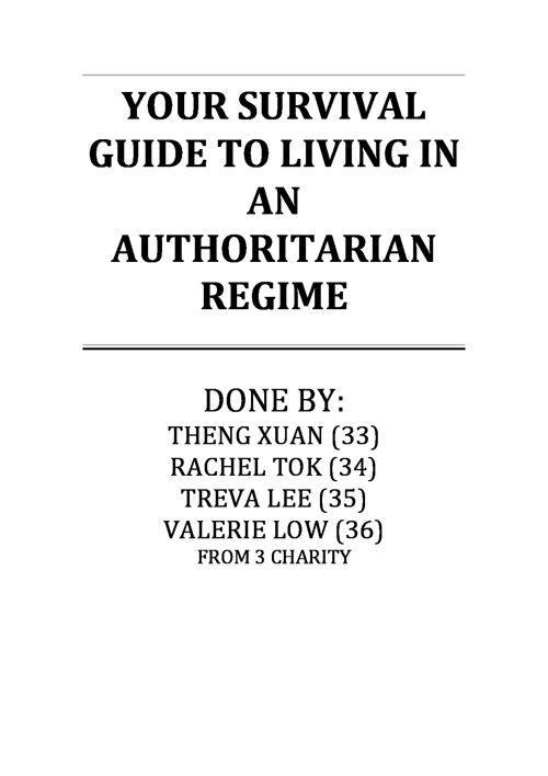 Features of an authoritarian regime