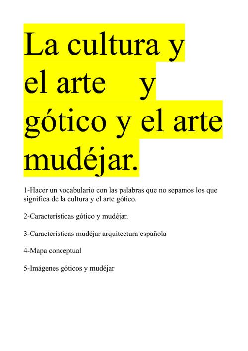 punto 6 el arte gotico y mudejar