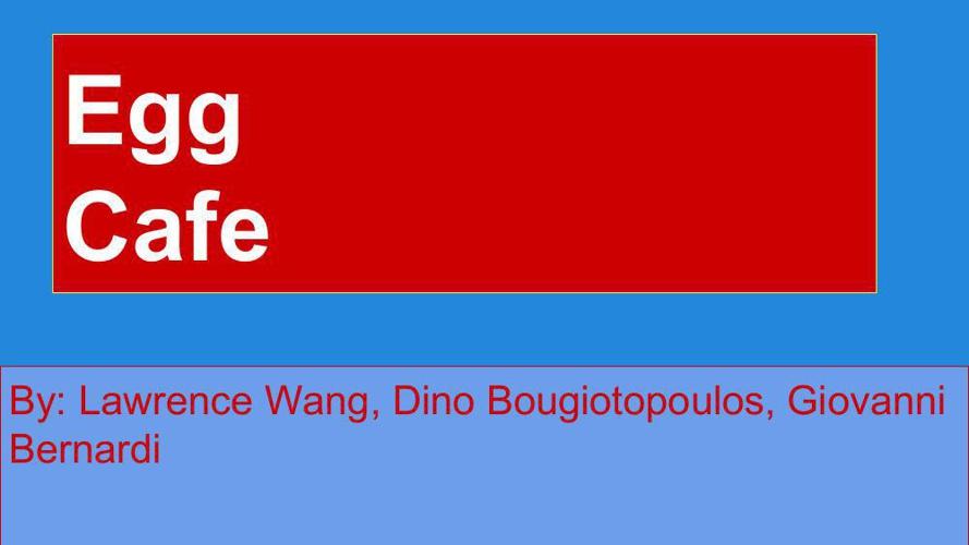 Wang_Bougiotopoulos_Bernardi_Eggs project