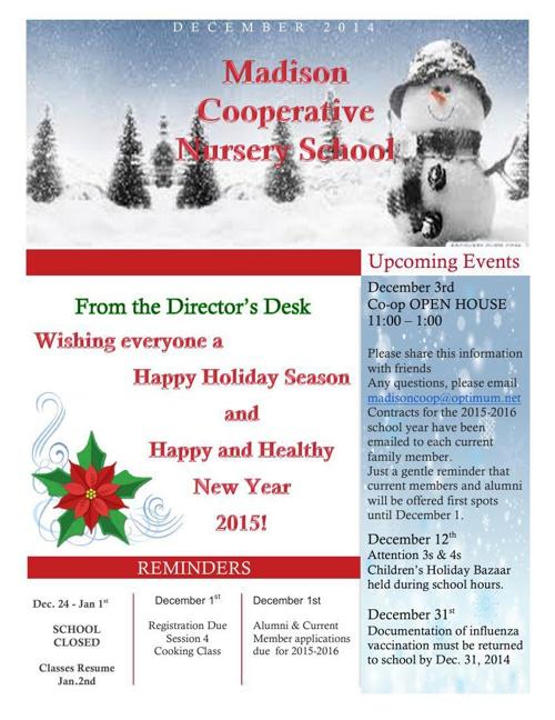 Madison Co-op December Newsletter