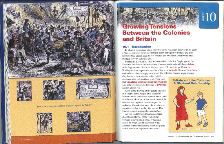 American Revolution Textbook Pages