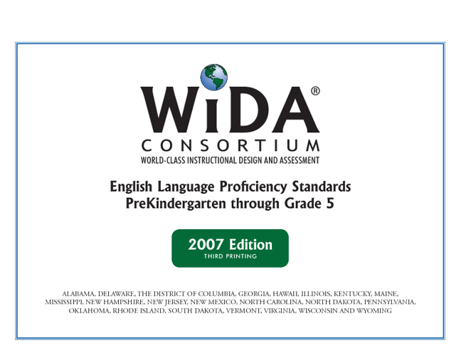 The ESOL Curriculum Bible AKA WIDA K-5 Standards