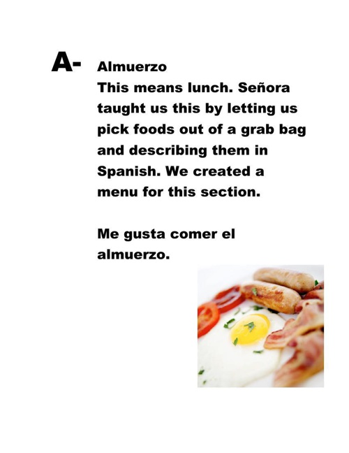 Offical Spanish abc book part. 1