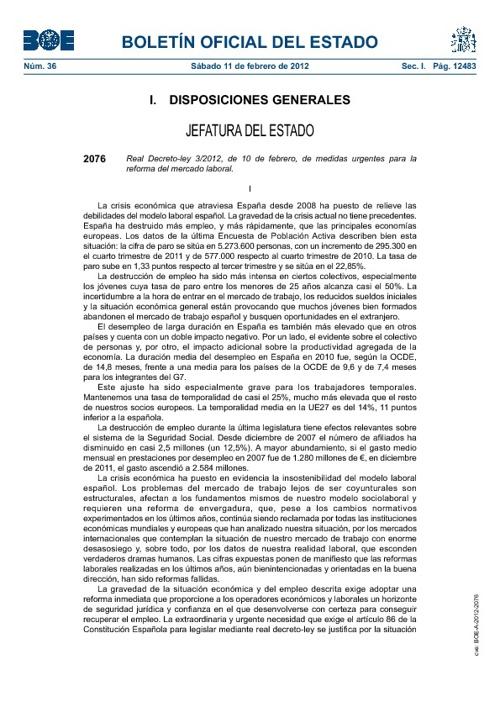 Real decreto de la Reforma