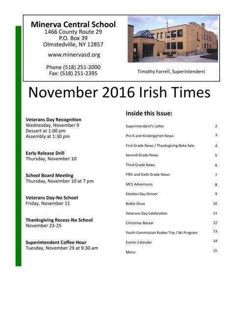 Irish Times November 2016
