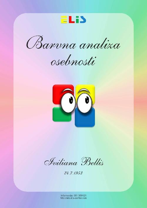 Iviliana Bellis - Barvna Analiza Osebnosti