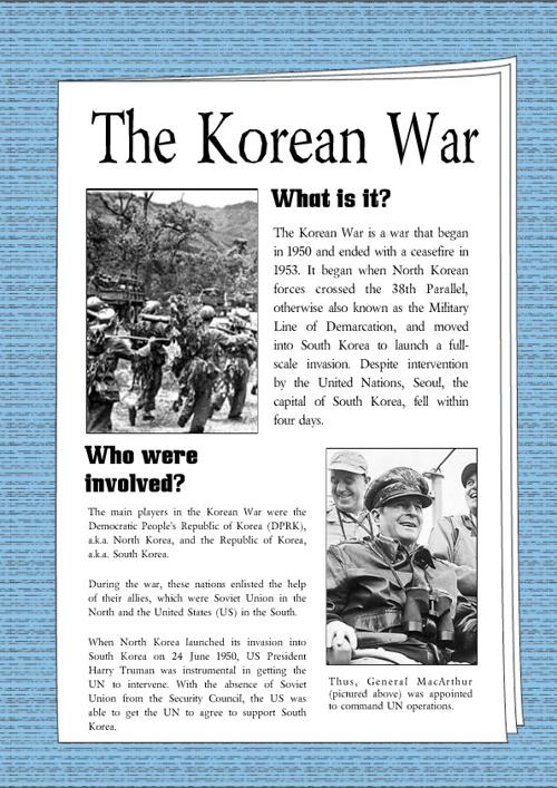 Korean War News