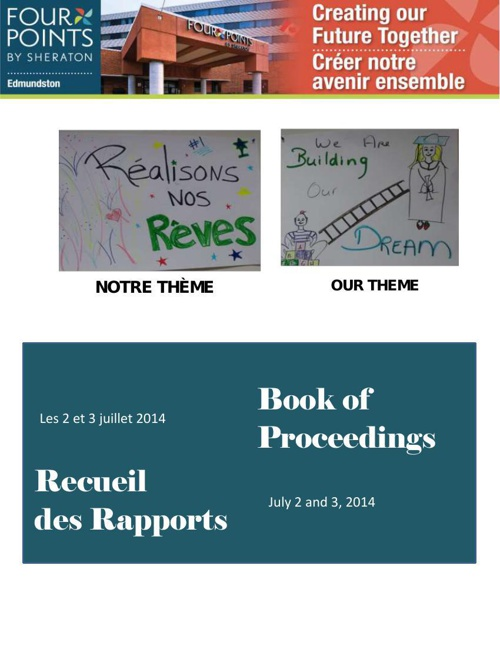 Book of Proceedings_Recueil_Four Points by Sheraton