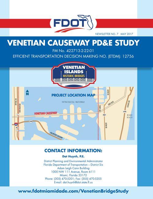 Venetian Causeway PD&E Study Newsletter English
