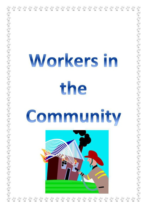 Workers in the Community flip book