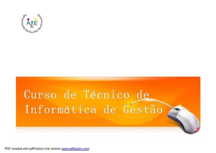 Curso de Técnico de Informática de Gestão-1