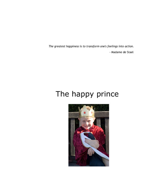 The happy prince tale