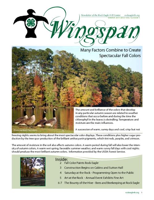Wingspan - Newsletter of Rock Eagle 4-H Center Spring 2012