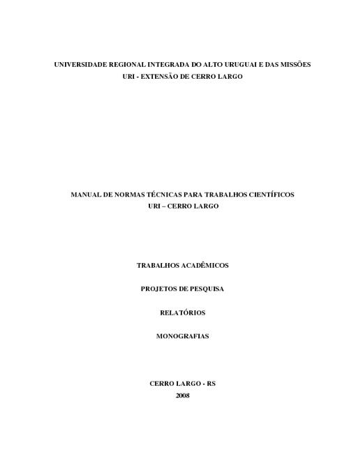 Manual de Normas Técnicas URI