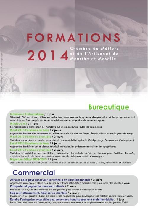 CMA 54 - Formations 2014