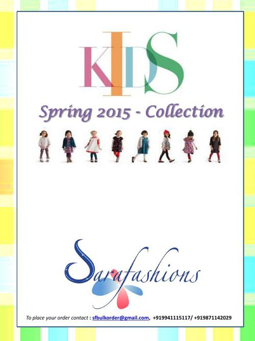Kids Clothing_Spring 2015 Collection