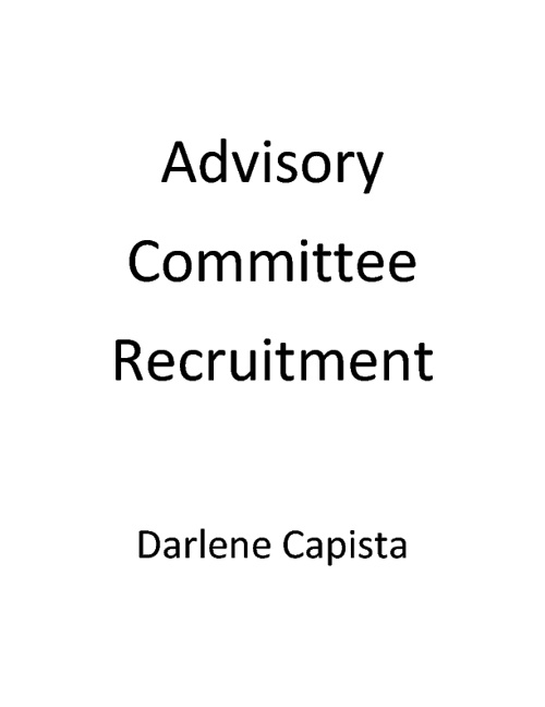 Advisory Committee Recruitment