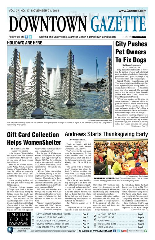 Downtown Gazette     November 21, 2014