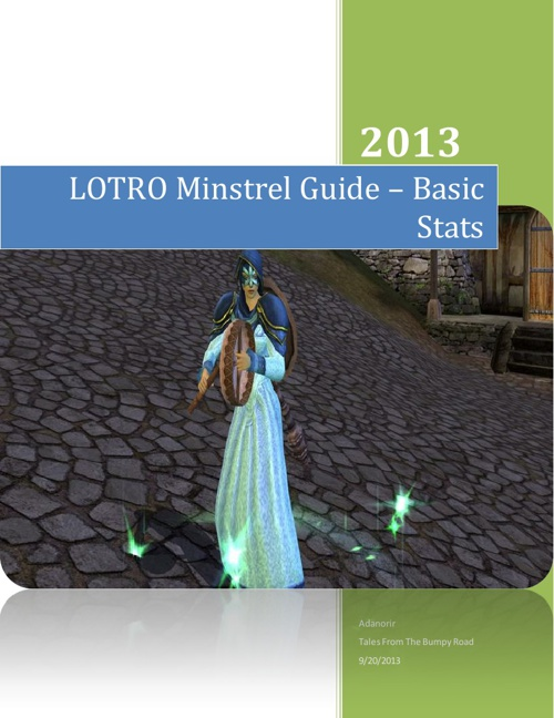 LOTRO Minstrel Guide – Basic Stats