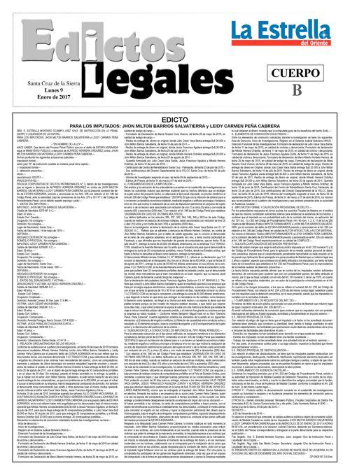 Judiciales 9 lunes - enero 2017