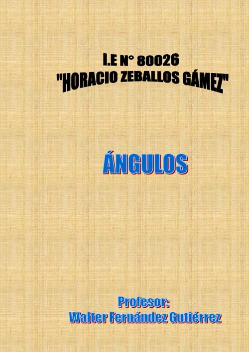 ÁNGULOS - CLASIFICACIÓN