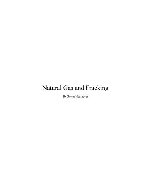 Skyler Neumeyer - Natural Gas