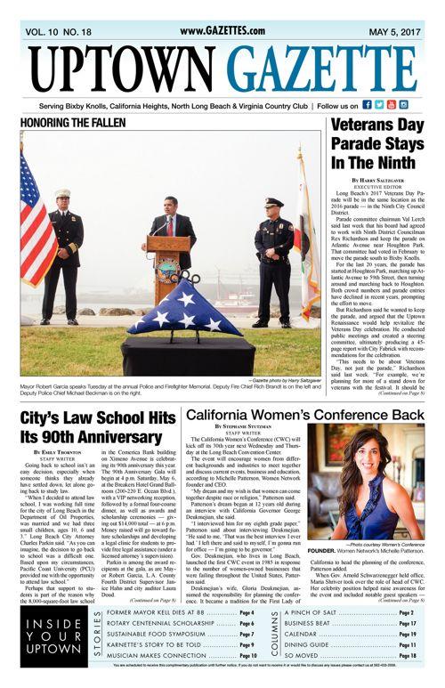 Uptown Gazette  |  May 5, 2017