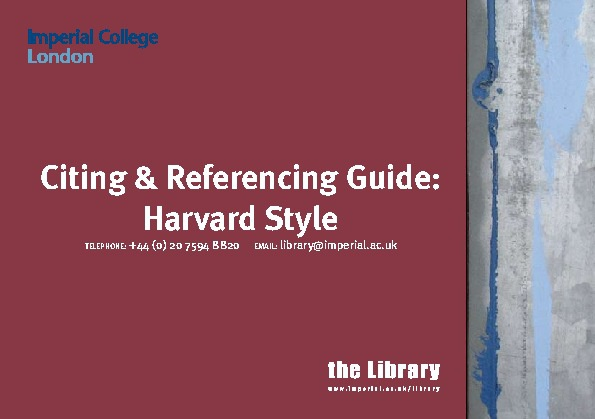 Imperial College Harvard Guide