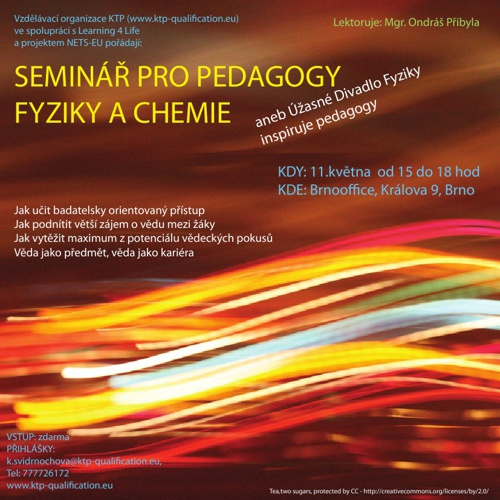 Pozvánka na seminář Badatelsky orientovaného vzdělávání