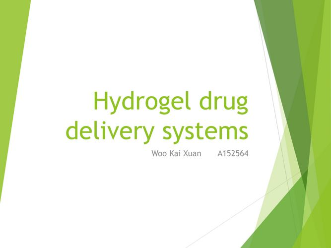 Hydrogel drug delivery systems
