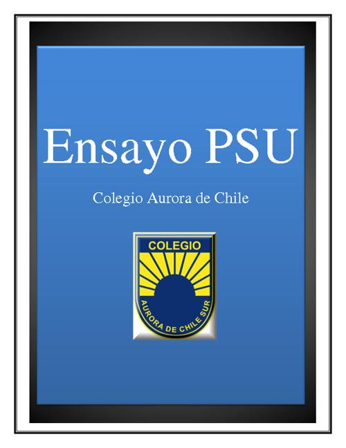Ensayo PSU CACHS
